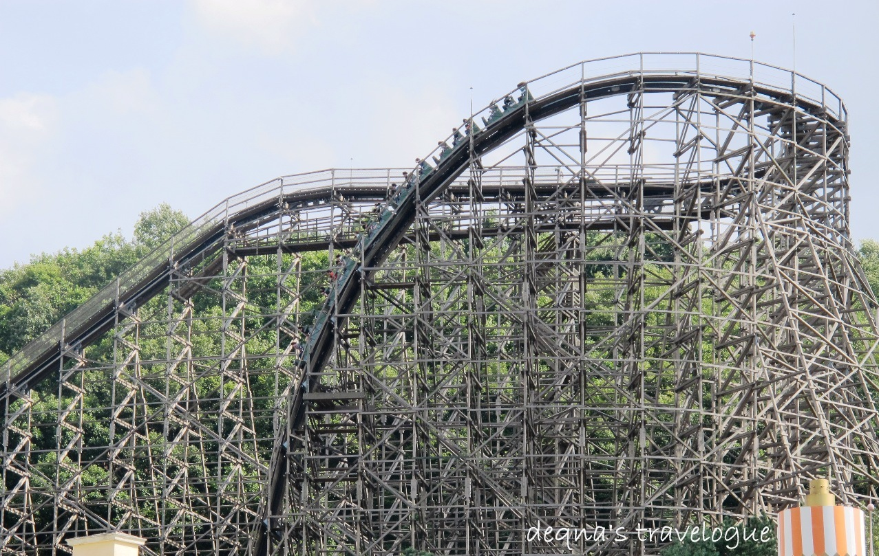 T Express The Steepest Wooden Roller Coaster In The World