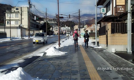 walking at the street of Nikko Town