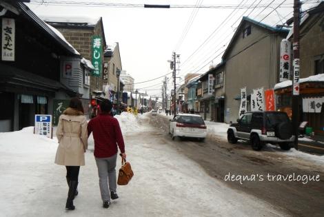 walking at the romantic city of Otaru