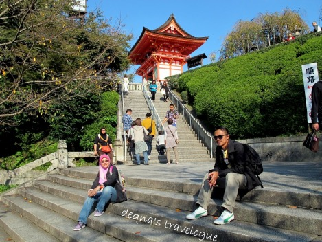 at the Kiyomizudera Temple area